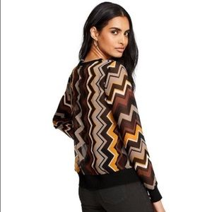 Missoni x Target Sheer Zig Zag V-Neck Top